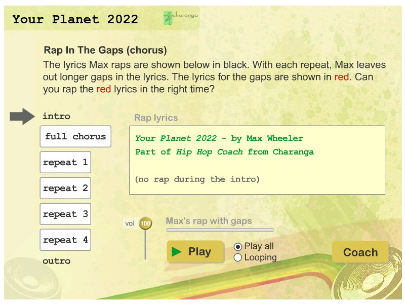 Your Planet 2022 Rap the Gap